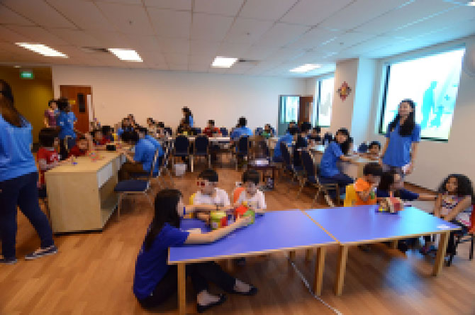 The National Institute of Education was invited to help organise tactile art workshops – Jungle Concerto for visually impaired and low vision children.
