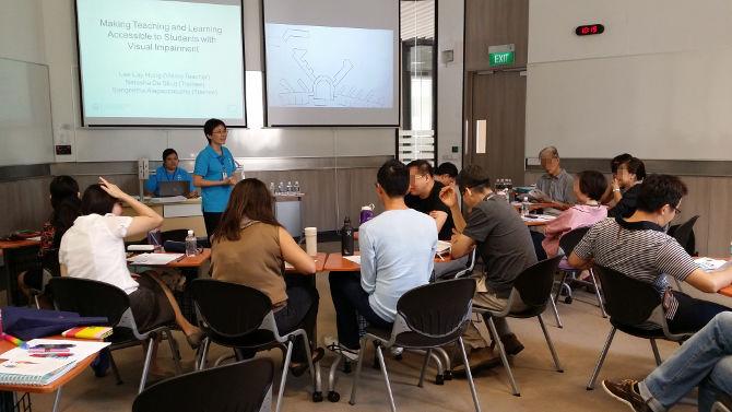Teacher Training at Temasek Polytechnic on 23 Mar 2015