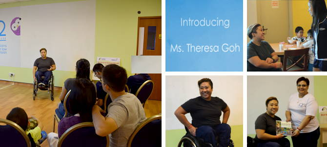 Ms Theresa Goh, Paralympian and world record holder of several swimming events graced the appreciation tea we hosted for the beneficiaries who took part in the SPH Foundation National Para-Swimming Championships 2015 and the National Para-Athletics Championships 2015.