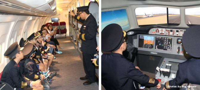 Aviation Academy - Our students had a hands-on inside a cockpit and a taste of what it feels like to operate an aircraft as a pilot.