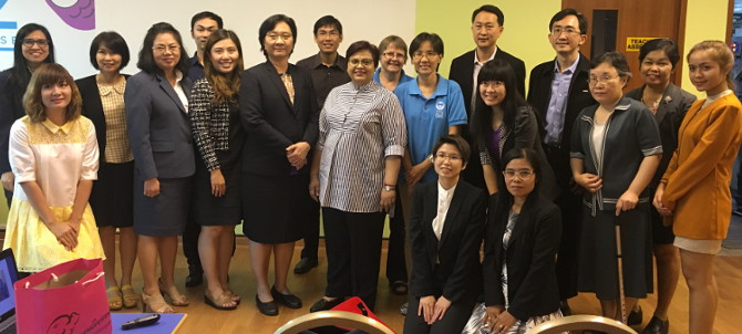 Thai Delegates visiting iC2 PrepHouse group photograph