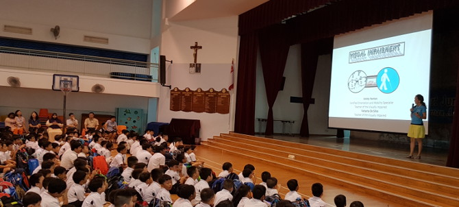 Monfort Junior School - awareness presentation by iC2 teacher Amity