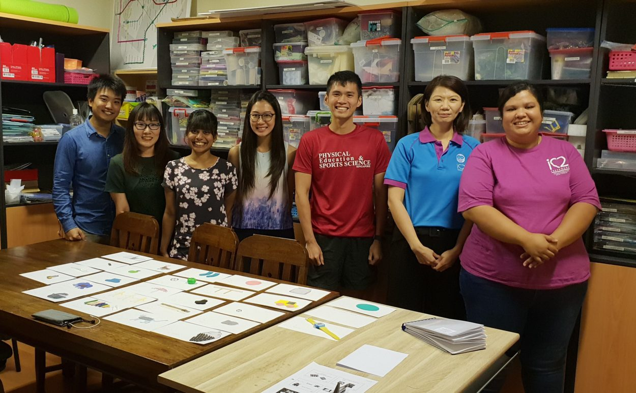 A special thanks to the NIE trainee teachers for their help in creating tactile materials for our students.