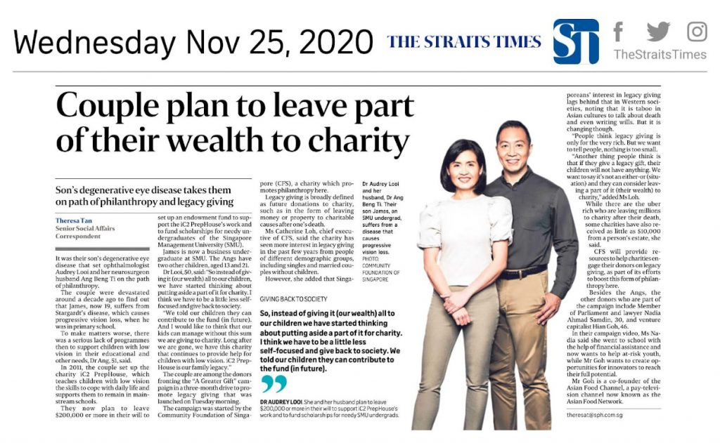 Couple plan to leave part of their wealth to charity