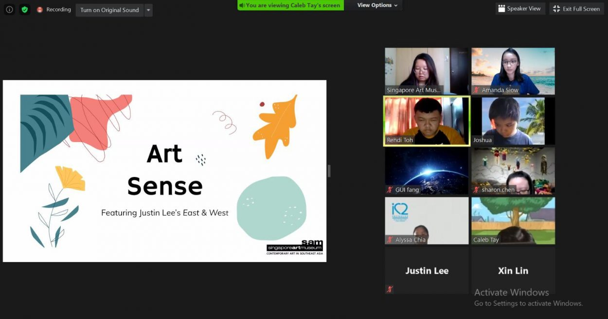 Inaugural session of Art Sense : Featuring Justin Lee's East & West