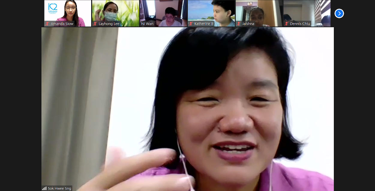 """A total of 25 parents and students signed up for our online parents support group talk on """"Preparing your Portfolio for Post-Secondary and Tertiary Institutions"""" by Ms Sng Sok Hwee. Ms Sng has a master's in counselling and has over 15 years of experience as a guidance counsellor in international and Singapore schools."""
